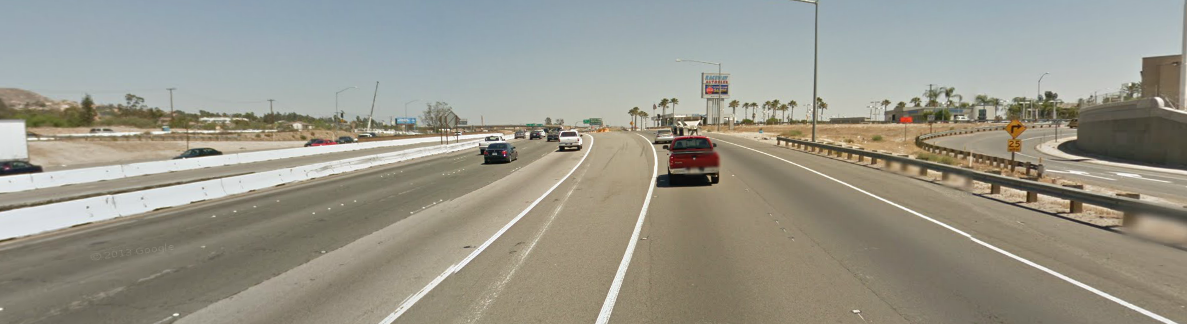 Interstate 215 in Moreno Valley, south of Fair Isle Drive