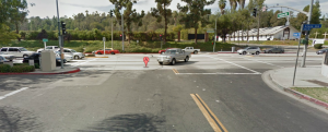 Azusa Avenue at Gemini Street intersection