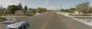 3rd Avenue at Smoketree Street intersection in Hesperia