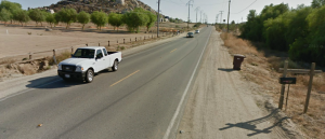 Stretch of Menifee Road near site of collision