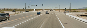 State Route 395 at Luna Road intersection