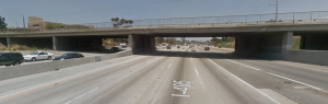 View of the Arbor Vitae Street overpass on the 405 Freeway